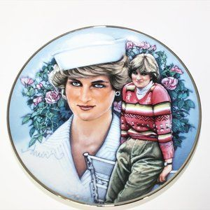 Shy Di by Drew Art Deco plate  Diana Princess